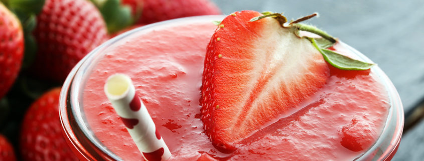 Skin Beautifying Strawberry Smoothie
